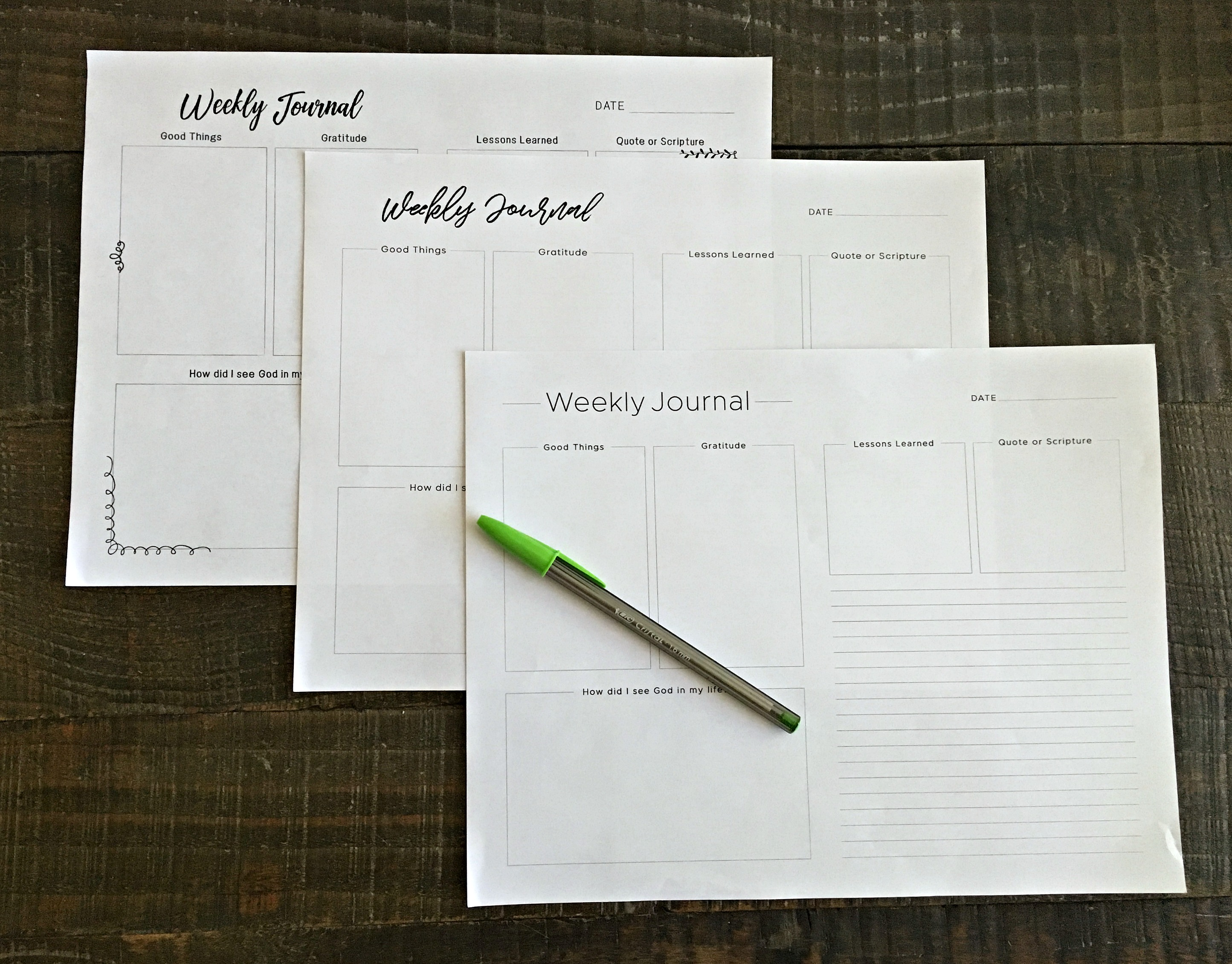 journal templates for moms